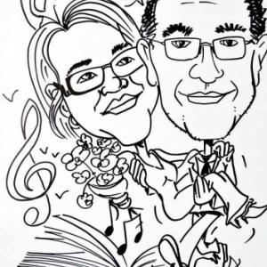 caricature minute mariage