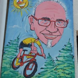 Caricature sur PVC