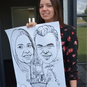 caricature sur papier pour la Grande Choufferie