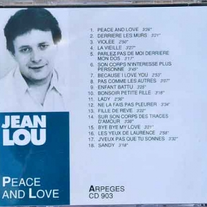 8752- Peace and love 18 titres 1991