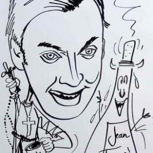 Caricature de David Schiepers par Lean-Marie Lesage