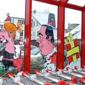 Neufchateau - Peinture sur vitrine pour Noel-7373