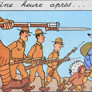 Tintin en Amerique (Herge) La phase d'occupation des lieux