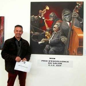 Olivier Claudon au Salon des Artistes Lorrains