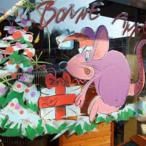 Beaufays - Peinture sur vitrine pour Noel-Liege-7396