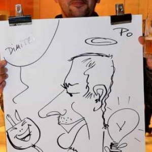 caricature NISSAN Marche - 5831
