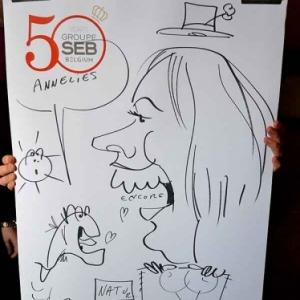 Caricature 50 years groupe SEB