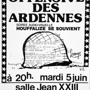 """Affiche du 5 juin 1984 pour """"Houffalize se souvient"""""""