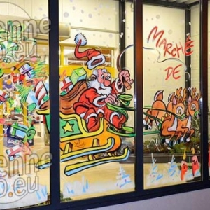 peinture sur vitre pour NOEL