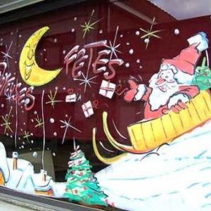 Peinture sur vitrine pour Noel-7344