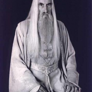 Christopher Lee, alias Saroumane