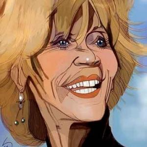Jane Fonda caricature de Christian Jacot