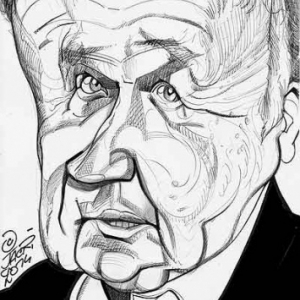 Philippe Bouvard caricature de Christian Jacot