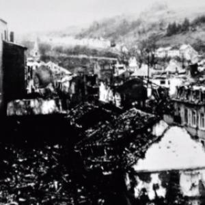 """""""Houffalize se souvient"""" . Ville Basse 1945"""