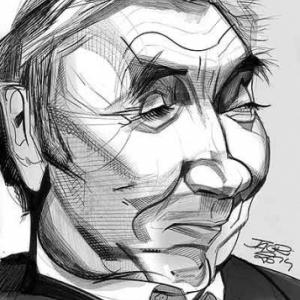 Merckx en caricature par Christian Jacot
