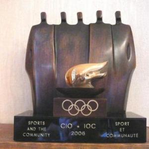 Le Trophee COIB 2006 recu par la Ville de Malmedy