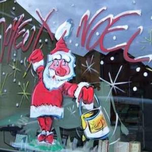 Peinture sur vitrine pour Noel-7341