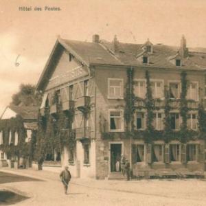 Houffalize avant 1944. hotel des poste Place du Roi Albert