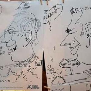 Caricature pour les 50 ans de Anne et Rene-1771