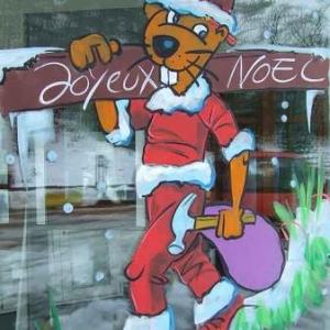 Marche - Peinture sur vitrine pour Noel-7480