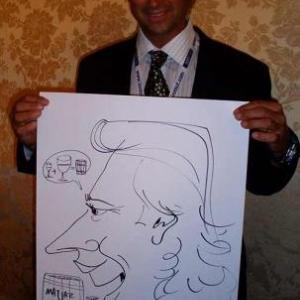 Caricature, chercheur,bruxelles, 30012
