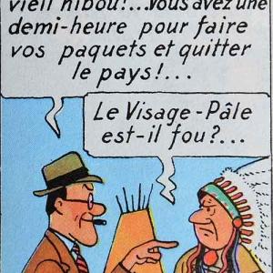 Tintin en Amerique (Herge). La phase de negociation