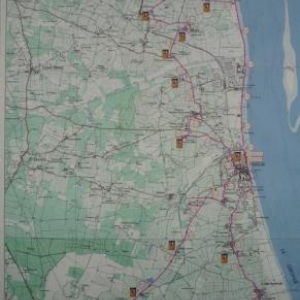 Carte du 25eme Marathon du Medoc