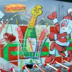 Peinture sur vitrine pour Noel-7472