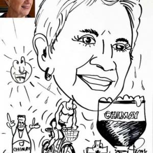 Animation caricature vele et biere Chimay