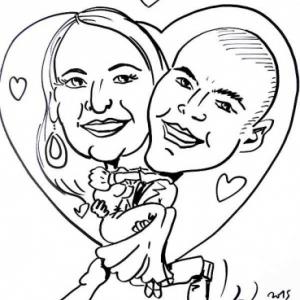 caricature minute pour mariage