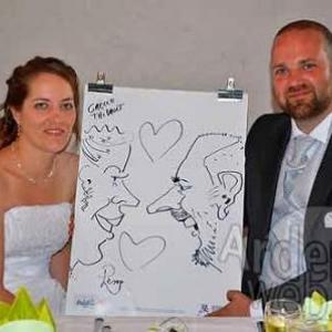 Caricature pour le mariage de Gaelle et Thibault
