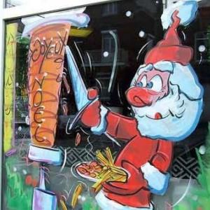 Peinture sur vitrine pour Noel-7535
