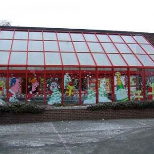 Neufchateau - Peinture sur vitrine pour Noel-7372