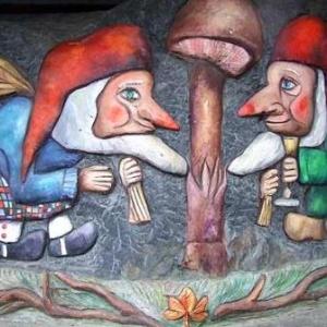 Sculpture de Gerphi peinte par Clovis Grandhenry