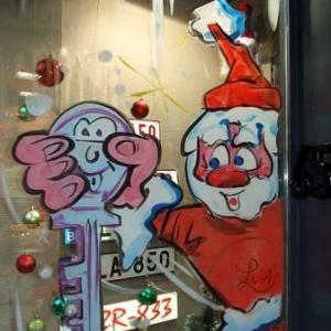 Gembloux - Peinture sur vitrine pour Noel-7438