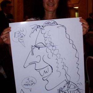 Caricature, chercheur,bruxelles, 30026
