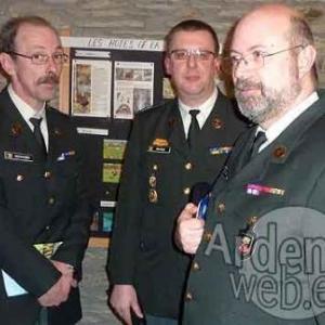 Le camp Elsenborn Gerhard Schopges, Didier Malisse et le Major Johan De Clercq