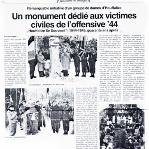 reportage page 4 de janvier 1985 de la Gazette de Bastogne