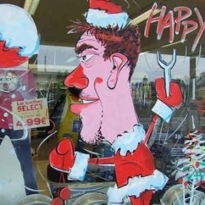 Peinture sur vitrine pour Noel - photo 7257