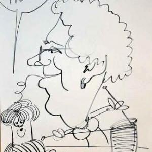 Caricature pour les 50 ans de Anne et Rene-1757