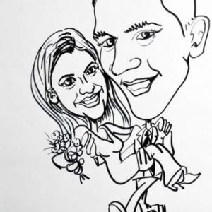 Caricature mariage Émilie et Vincent