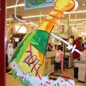Peinture sur vitrine pour Noel-7327