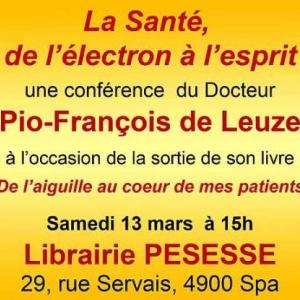 Conference du docteur Pio-Francois de Leuze