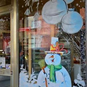 bonhomme de neige pour un boulanger