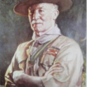Baden-Powell, pere du scoutisme ( portrait peint )