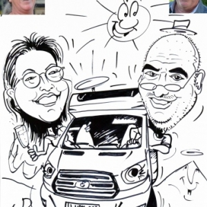 mobilhome, caricature minute
