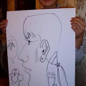 Caricature, chercheur,bruxelles, 30006