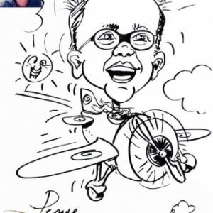 caricature minute en avion