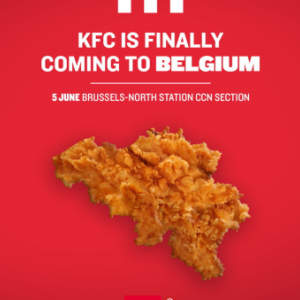 Kentucky Fried Chicken ouvre en Belgique