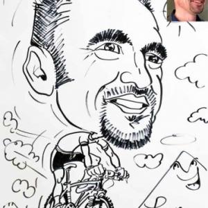caricature minute Frederic en VTT